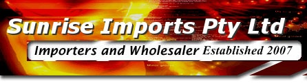 sunrise imports an wholesaler