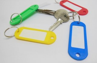 5x120 Plastic Name Tag Keychains Keyring Mixed [kr-p-ch32