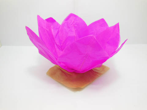 10 Fuschia Chinese Paper Lotus Flower Floating Lanterns We F183